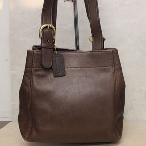 Coach 4157 Vintage Soho Brown Leather Buckle Tote